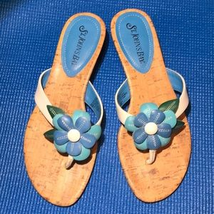 St. John's Bay Leather wedge sandals